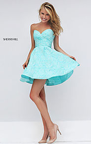 Floral Printed Strapless 2016 Sweetheart Neck Aqua Short Bodice Homecoming Dresses