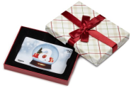 Amazon.com Plaid Gift Card Box - $50, Holiday Globe Card