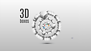 3D boxes Prezi template shape of a circle
