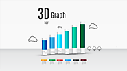 3D bar graph Prezi template for reports