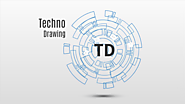 Prezi template Techno drawing for technology concept