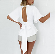 Show Your Interest In Sexy Looking Backless Ladies Tunic Tops!