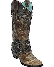 Corral Women's Collar And Harness Cowgirl Boot Snip Toe