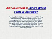 World famous Astrologer Aditya samrat ji