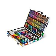 Crayola; Inspiration Art Case; Art Tools; 140 Pieces; Crayons; Colored Pencils; Washable Markers; Paper; Portable Sto...