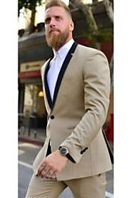Buy Beige Tuxedo For A Sophisticated Style