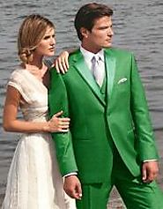 Create A Fashion Statement With Green Tuxedo