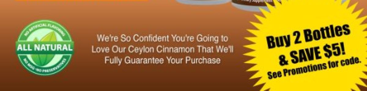 Headline for Review Of Organic Ceylon Cinnamon Capsules For Diabetes & Weight Loss