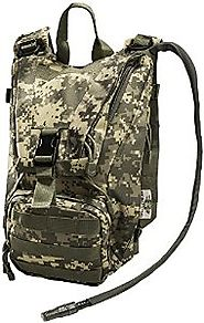 Hydration Pack with 2.5L Bladder and 2 Additional Pockets. Tough Military Style Backpack From Monkey Paks Is Perfect ...