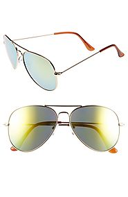 Mirrored Aviator 57mm Sunglasses Waiting for You