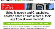 The Library Voice: Sharing Art Using Minecraft & Creatubbles With Others Around The World