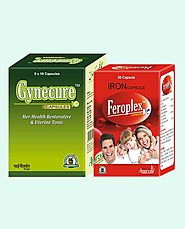 Gynecure and Feroplex Capsules Best Value Combo Packs