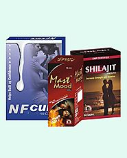 NF Cure, Shilajit Capsules and Mast Mood Oil Best Value Packs