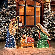 Shimmering Holy Family Nativity-Set of 3