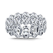 Diamond Eternity Band with Fancy Oval Diamonds in Platinum (14.00 cttw.)