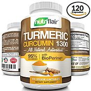 Turmeric Curcumin with BioPerine® Black Pepper 1300mg, 120 Veggie Capsules, with 95% Curcuminoids - Highest Potency, ...