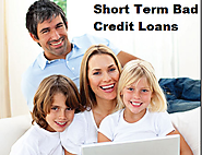 Short Term Bad Credit Loans- Ultimate Finance For Low Credit Holders!