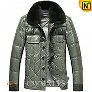 CWMALLS® Fur Leather Down Jackets CW846065