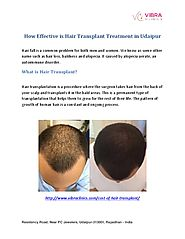 How effective is Hair Transplant Treatment in Udaipur.pdf - PdfSR.com