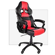 Arozzi Monza Series Gaming Racing Style Swivel Chair, Orange/Black
