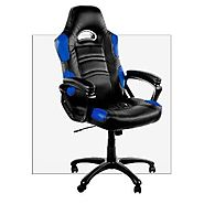 Arozzi Enzo Series Gaming Racing Style Swivel Chair, Black/Blue