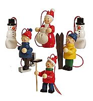 Vintage Old World Wooden German Christmas Tree Ornaments - Christmas Decorating Fun