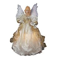 Lighted Christmas Angel Tree Toppers - Christmas Decorating Fun