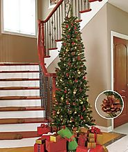Top 10 Prelit Pencil Christmas Trees - Christmas Decorating Fun