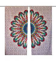 Colourful hippie indain tapestry door curtain