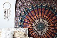 Marubhumi Hippie Mandala Bohemian Psychedelic Intricate Floral Design Indian Cotton Bedspread Picnic Bedsheet Wall Ar...