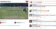 Twitter started its live coverage of Wimbledon today