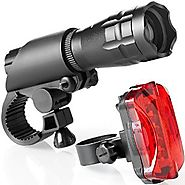 Bike Light Set - Super Bright LED Lights for Your Bicycle - Easy to Mount Headlight and Taillight with Quick Release ...