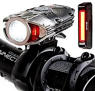Super Bright USB Rechargeable Bike Light Set - Blitzu Gator 380 POWERFUL Bike Headlight - TAIL LIGHT INCLUDED 380 Lum...