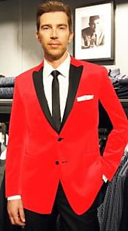 Create Flawless Professional Look With Men's Red Sport Coats