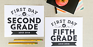 Remodelaholic | Printable First Day of School Signs