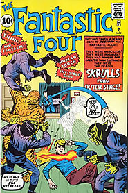 "2: Fantastic Four (v1) #2 - ""The Fantastic Four Meet the Skrulls from Outer Space! """