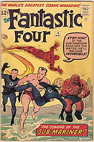 "7: Fantastic Four (v1) #4 - ""The Coming of ... Sub-Mariner! """