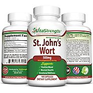 Premium St. John's Wort - 500mg x 100 Capsules - Saint Johns Wort Extract for Mood Support - Promotes Mental Health &...