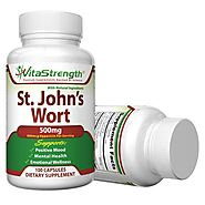 Premium Pure St John's Wort Supplement - Helps Memory, Mood & Much More - St John Wort 500mg - 100 Capsules - Made in...