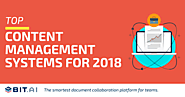 List of Content Management Systems to Try in 2018 - Blog.elink.io
