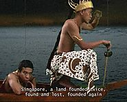 Ho Tzu Nyen, Utama - Every Name in History is I, 2003, video and paintings (screenshot from video).