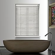 Arctic White 12V Battery Powered Electric Wooden Blinds