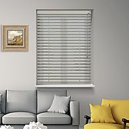 Satinwood Metro 12V Battery Powered Electric Wooden Blinds