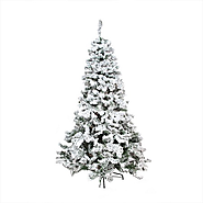 Flocked Fake Christmas Tree
