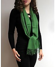 Green Winter Cashmere Scarves at YoursElegantly