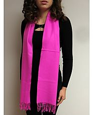 Pink Cashmere Scarves Warm Winter Scarf