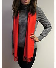 Winter Cashmere Scarves - Unique Orange @YoursElegantly