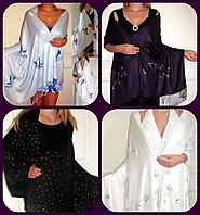 Dressy handcrafted Evening Shawls Wraps at YoursElegantly