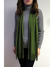 Buy Green Knit Winter Scarf Luxury At YoursElegantly