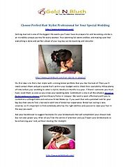 choose perfect hair stylist professional for your wedding